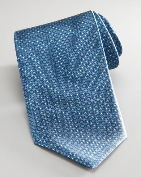 Mini Circles Tie, Blue