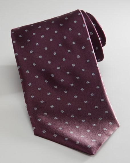 Dot-Print Jacquard Tie