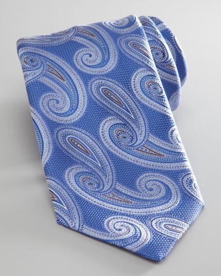 Silk Paisley Tie, Blue