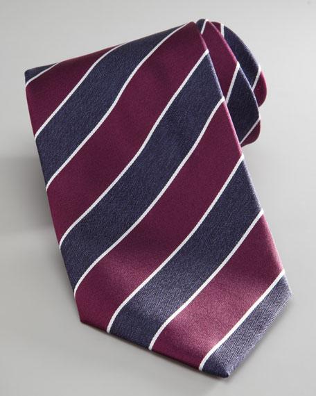 Striped Jacquard Tie