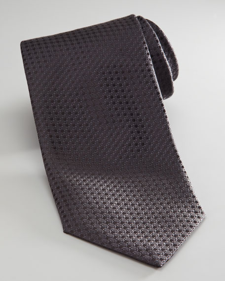 Tonal Textured Tie, Black