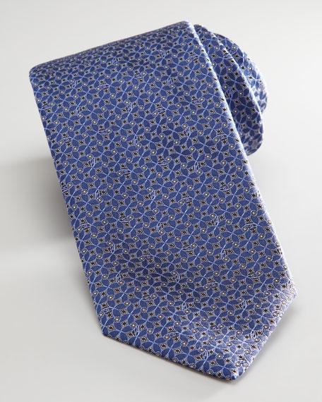 Mini-Square & Swirl Tie, Navy