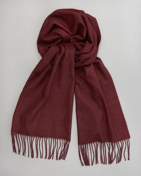 Cashmere-Silk Scarf, Cranberry