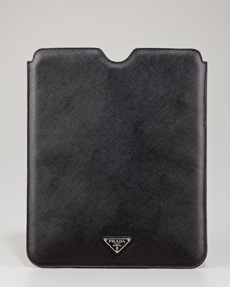 Saffiano iPad Case, Black