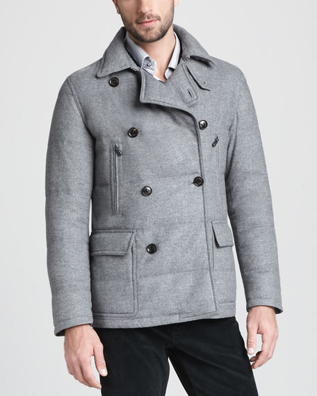 Teflon-Treated Puffer Pea Coat