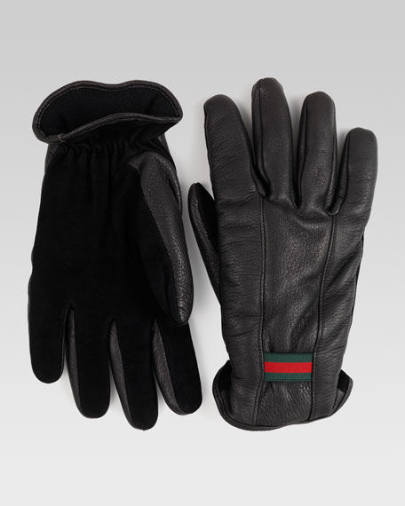 Men's Gloves with Signature Web