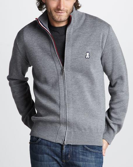 Front-Zip Bunny Jacket, Gray