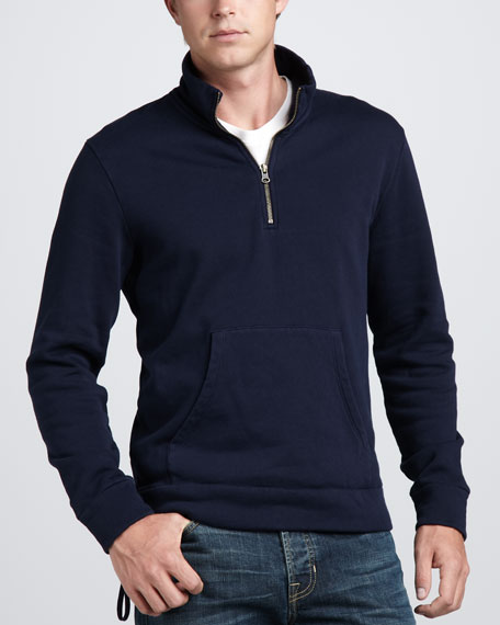 Mock-Neck Zip Sweatshirt