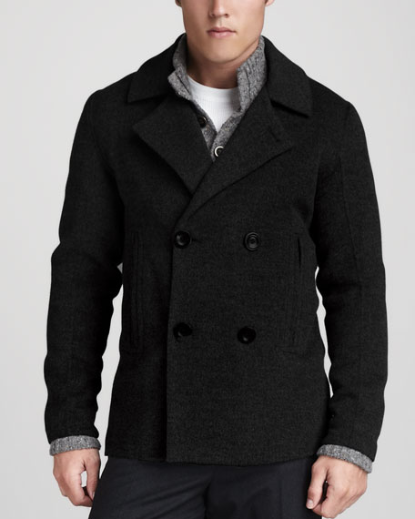 Double-Face Pea Coat