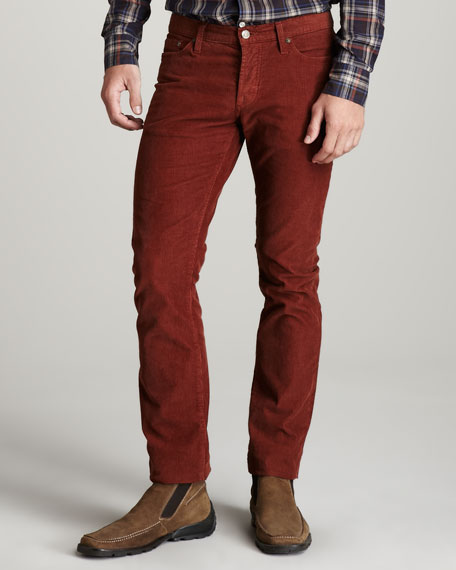 Stone-Wash Corduroy Pants