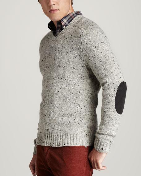 Tweed V-Neck Sweater