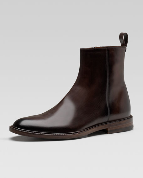 Cezanne Leather Ankle Boot, Brown