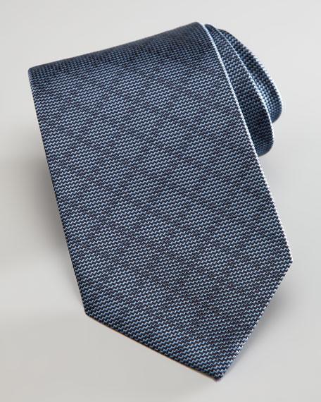 Tonal Diagonal Grid Tie, Sapphire