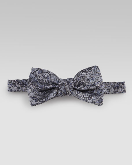 Paisley GG Bow Tie, Blue