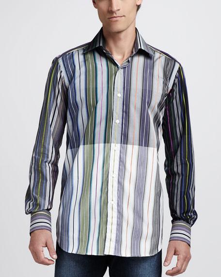 Mixed-Stripe Sport Shirt