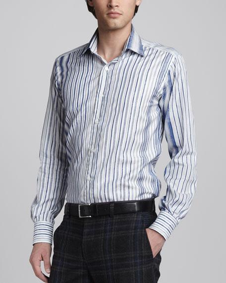 Paisley-Jacquard Sport Shirt