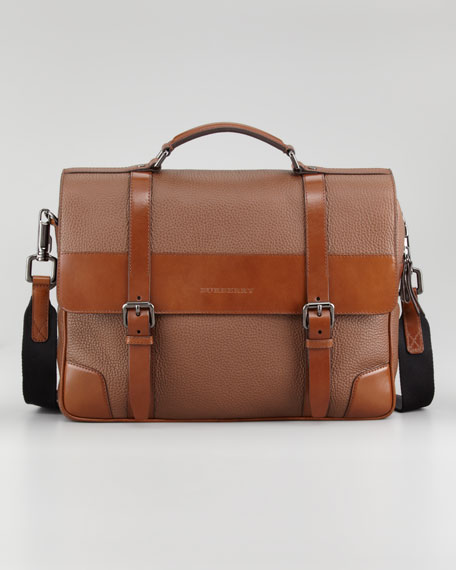 Grainy Leather Crossbody Bag Briefcase