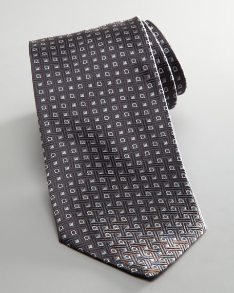 Square and Gancini Tie, Gray