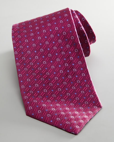 Gancini Dot Tie, Purple
