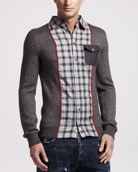 Wool-Silk Sport Shirt