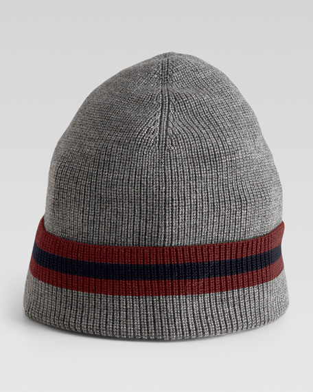 Crook Knit Hat, Gray