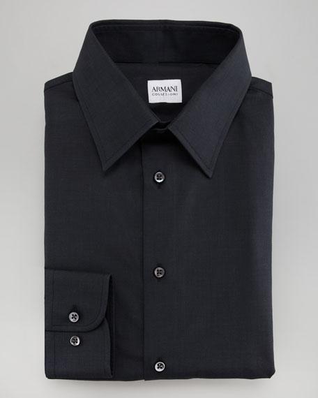 Solid Dress Shirt, Black