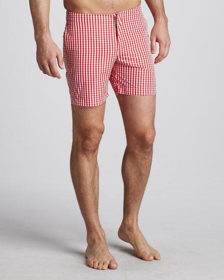 Beagle Surf Shorts, Red