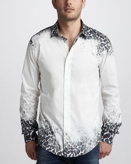 Scratched Jaguar-Print Shirt