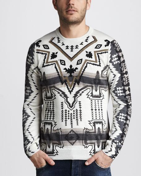 Ikat-Jacquard Sweater