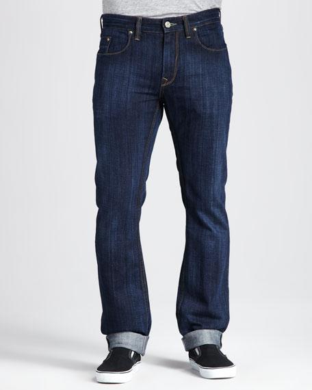 Dark Slub-Twill Jeans