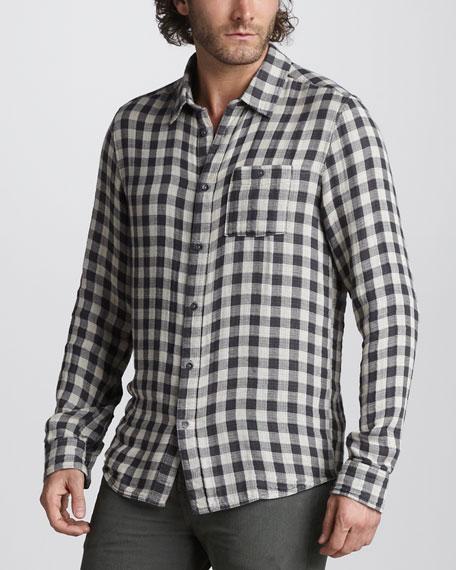 Double-Face Check Sport Shirt