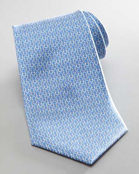 Alternating Gancini Tie, Blue