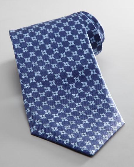 Ladybug Jacquard Tie, Navy