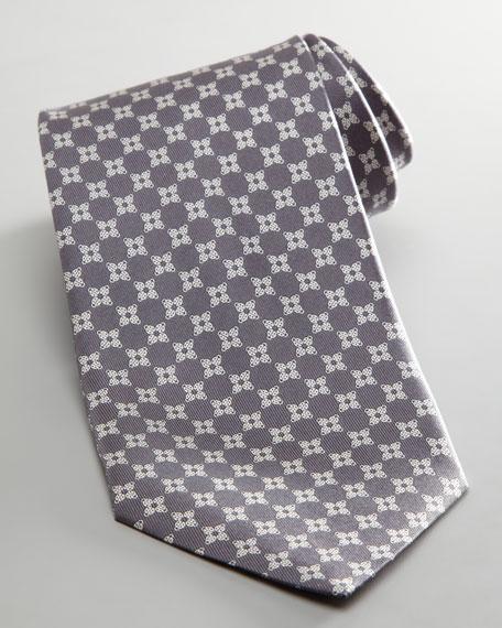 Ladybug Jacquard Tie, Gray