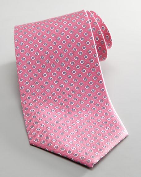 Floral Jacquard Tie, Pink