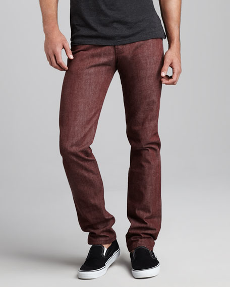 WeirdGuy Pomegranate Selvedge Jeans