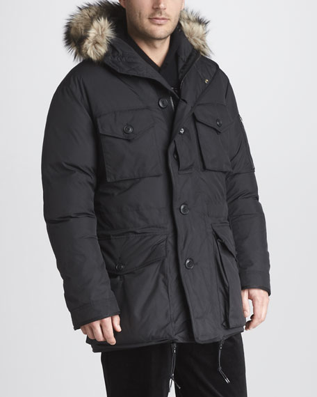 Faux Fur-Trim Parka