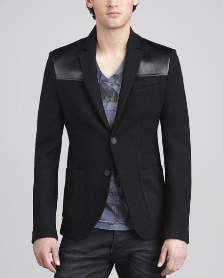 Leather-Shoulder Jacket