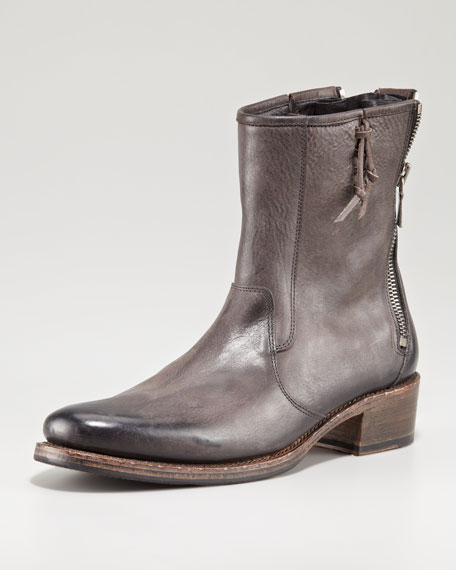 Parisian Double-Zip Boot