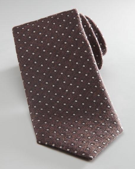 Mini Dot Tie, Brown