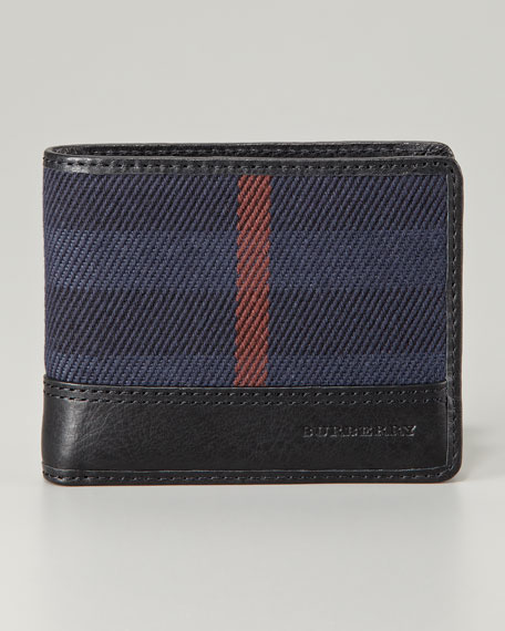 Hipfold Check Wallet, Navy