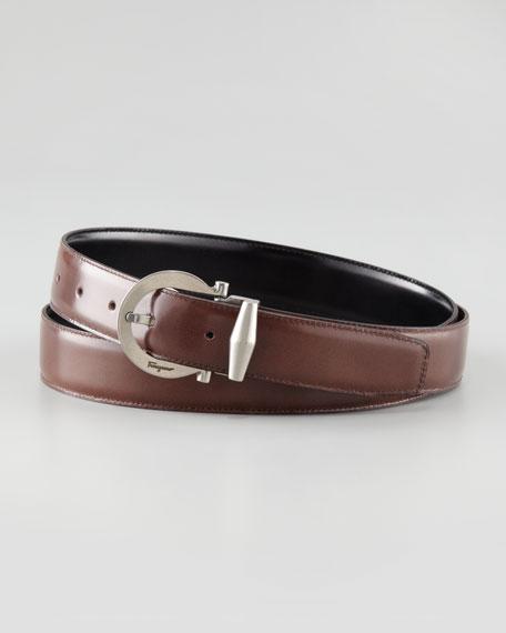 Reversible Polished Leather Belt