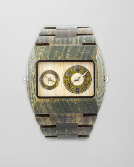 Jupiter Square Wood Watch, Army