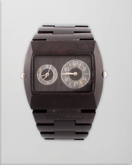 Jupiter Wood Watch, Black