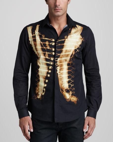 Military-Print Shirt