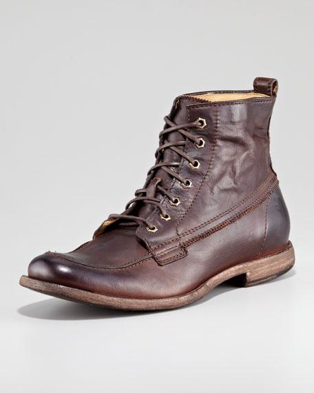 Phillip Work Boot, Dark Brown