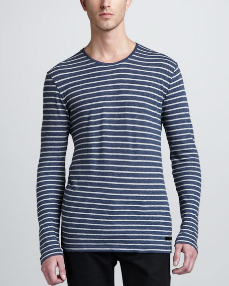 Striped Cotton-Wool Long-Sleeve Tee