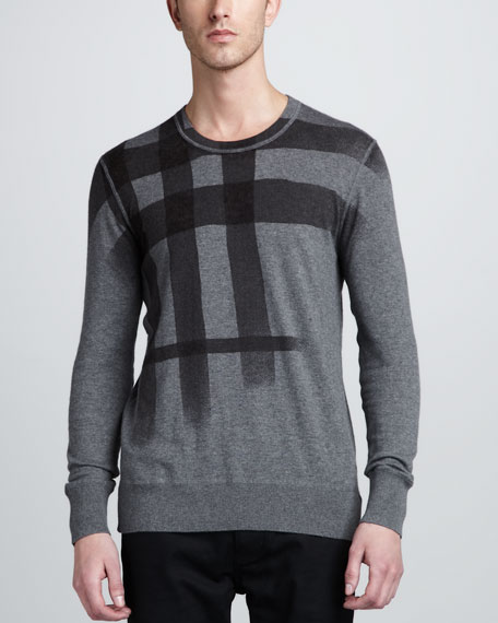 Check Cotton-Cashmere Sweater