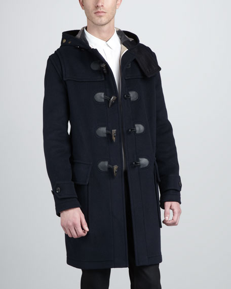 Check-Lined Duffle Coat