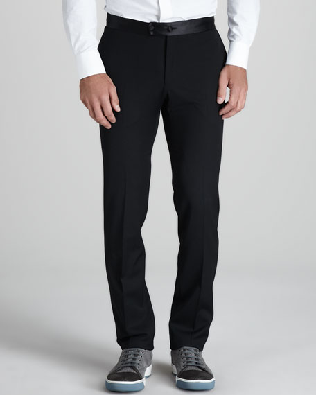 Satin-Waist Pants